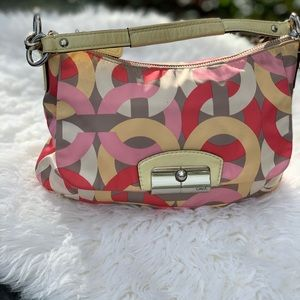 Coach Kristin Chain Link Print Purse